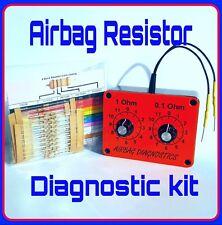 NEW AIRBAG RESISTOR TOOL+*100 FREE RESISTORS . Clear airbag light fault for MOT.