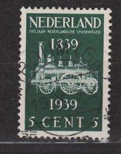 NVPH Netherlands Nederland 325 TOP CANCEL WIRDUM (GR) 100 jaar Spoorwegen 1939