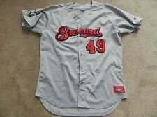 2016 Brevard County Manatees Game Used Away Jersey #49 David Chavarria Brewers
