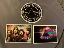 """Lot of 3 Pink Floyd 2"""" to 2 3/4"""" Band Logo Stickers Fast Ship! Gilmour Waters"""