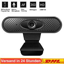 USB 1080P HD Webcam Web Kamera Mit Mikrofon für PC Laptop  Computer Mac Notebook