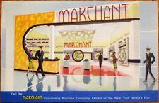 Marchant Calculating Machine 1939 Linen Advertising Postcard - NY World's Fair
