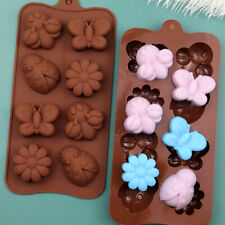 Flowers Butterfly Insekt Silicone Chocolate Mould Wax Melt Ice Cube Tray Mold