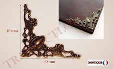 24 Coins de protection Bronze Ciselés pour protéger angle de livre cartonnage