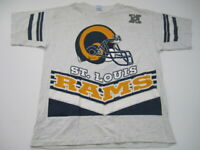Mens XL St Louis Rams Salem Sportswear vintage 90s jersey t shirt made in USA