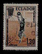 ECUADOR  SCOTT# C326   USED  BASKETBALL TOPICAL (SPORT)