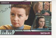 """MARTHA HACKETT SIGNED 2014 RITTENHOUSE """"STAR TREK"""" ALIENS #52  - SESKA"""