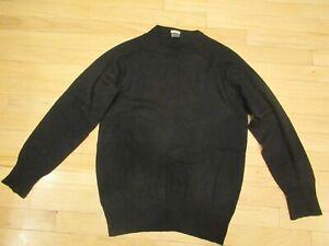 Vtg Brooks Brothers 100% Pure Cashmere Women L Long Sleeve Knit Sweater Black