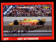 Gary Bettenhausen #23 signed autograph auto 1992 Legend of Indy Trading Card