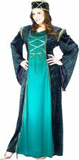 Lady in Waiting Costume Dress Medieval Renaissance Queen Princess - Plus 16-24