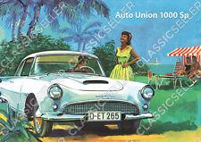 """Auto Union AU 1000 Sp """"Camping"""" Poster Plakat Bild Kunstdruck Affiche DKW Deko"""