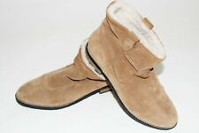 H&M Woman's Beige Suede Slip On Ankle Boots Size UK 5 Euro 39