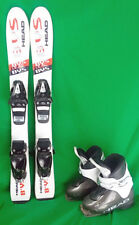 Head BYS Youth 77 cm Skis with 17.5 or 18.5 Ski Boots - Black - USED