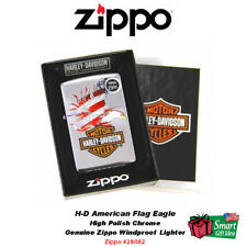 Zippo Harley-Davidson American Flag Eagle, Genuine USA Pocket Lighter #28082