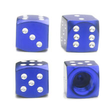 4x Blue Dice Tire Valve Stem Caps for Motorcycle Bike Car Truck Hot Rod SUV BMX