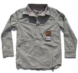 Fourstar Brophy Ragazzi Misto Cotone T-Shirt Grigio Medio Nuovo