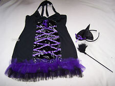Hanky Panky Ladies Sexy Black Purple Witch Dress Up Costume Outfit Size L New