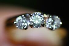 Three Stone Brilliant Round Cut Diamonds .64 CTW 14K Yellow Gold Engagement Ring