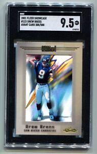 2001 Fleer Showcase Drew Brees Avant Card RC 308/500 SGC 9.5 MINT+