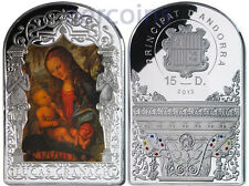 Andorra 2013 Renaissance Madonna by Cranach 15D Pure Silver 50g Colored Coin