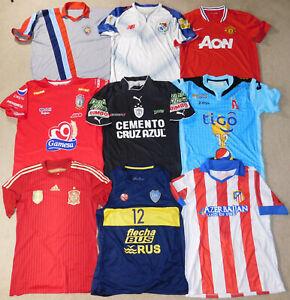 Vintage Soccer Jersey Lot of 9 International National Team Football Clubs Mens M