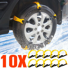 10pcs Snow Mud Tire Chain For Car Truck SUV Anti-Skid Emergency Winter Driving