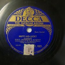 78rpm EMILE GRIMSHAW banjo quartet , happy-go-lucky / tattoo F.1521