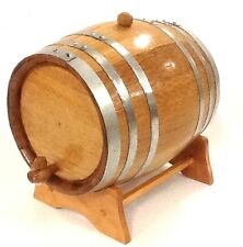 Premium Wooden Oak 2L Barrel-STEEL HOOP-Wine,Port,Rum,Whisky-FREE TEXT ENGRAVING