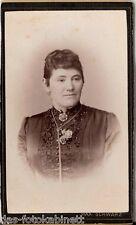 CDV photo Damenportrait - Bucarest 1890er