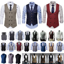 Men Party Dress Vest Suit Casual / Formal Tuxedo Waistcoat Wedding Work Outwear