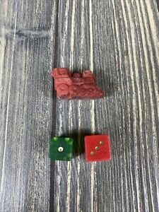 Parker Brothers 1961 Monopoly Game Replacement Part Dice Train Piece