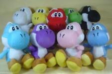 "Super Mario Brothers Set of 9 pcs Yoshi Plush 6"" Dolls Featuring Green Yoshi"