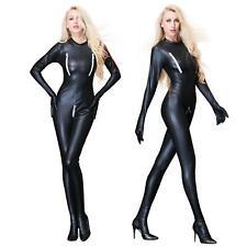 Sexy Kunstleder Bodysuit Catsuit Jumpsuits Gloves Zentai Goth Overall SH60