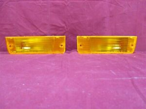 NOS OEM Dodge Shadow Front Bumper Park Lamp/Turn Signal 1992 - 94 PAIR