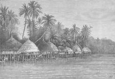 INDIA. Nicobar Islands. Mala, Point Mayo, Nancowry, antique print, 1870