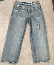 Ln Geans By Lng Men's Jeans Size 36 Distressed Light Wash Unique Straight Leg