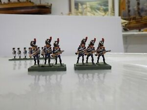 Jack Scruby 30mm Napoleonic French Old guard Painted (6) Red Plume
