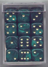 NEW Dice Cube Set of 36 D6 (12mm) - Pearl Green
