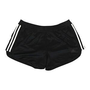 Adidas Women's  Black 3-Stripes Knit Shorts