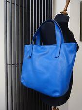 Coccinelle Mila Shopper bag handbag shoulderbag leather 32 cm Blue New