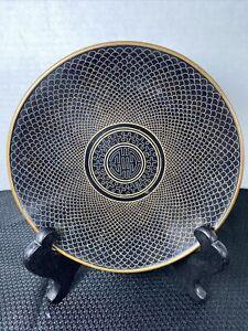 "Antique Chinese Black Cloisonne Plate/ Dish 6-1/8""D,Late Qing/ Republic"