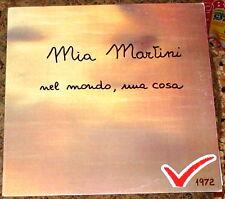 """MIA MARTINI NEL MONDO UNA COSA LP PROMO COVER MADE IN ITALY 1972 12"""" VINYL no CD"""