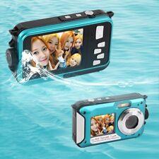 "Double Screen 24MP Waterproof Digital Video Camera 1080P DV Underwater 2.7"" PA"