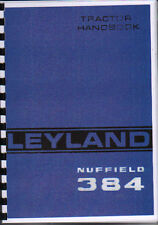 "Leyland ""384"" Tractor Operator Handbook Manual"