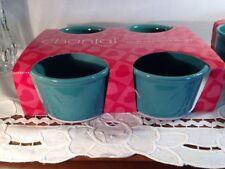 Chantal Set of 4 Baking Dish/Ramekins 1 Cup Aqua New In Package