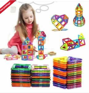 100/50Pcs Magnetic Building Blocks Multicolour Construction Building Toys Puzzle