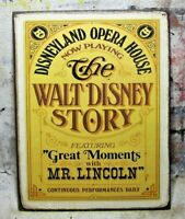 WALT DISNEY STORY Disneyland Opera House Handmade Disney World RIDE vintage sign