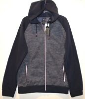 Buffalo David Bitton Mens Navy Blue Full-Zip Hoodie Jacket NWT $89 Size XXL 2XL