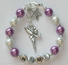Personalised Girls Bracelet charm and colour choice Birthday Present