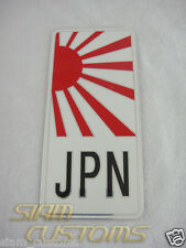 JAPANESE RISING SUN FLAG, JDM CAR ALUMINIUM STICKER EMBLEM LOGO BADGE